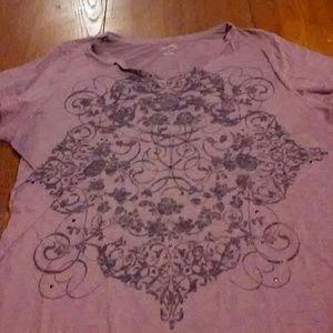 Purple Printed T-Shirt